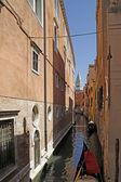 威尼斯,运河与缆车在威尼斯,意大利,欧洲 — 图库照片