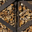Stock Photo: Well seasoned firewood, ovenwood in Germany, Europe