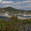 Sardinia, harbor of Marina di Villasimius, Italy — Stock Photo