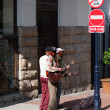Street musicians with guitars — Stock Photo #10071330