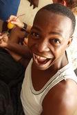 Portrait of smiling black man — Stock Photo