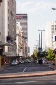 Busy urban street scene Cape Town South Africa — Stock Photo