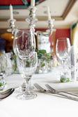 Elegant formal place setting — Stock Photo