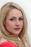 Portrait of young blonde woman — Stockfoto