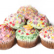 Many cupcakes or small cakes — 图库照片