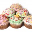Many cupcakes or small cakes — Stock Photo