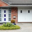 Stock Photo: Modern entry door to house