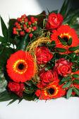 Colourful Wedding Corsage — Stock Photo
