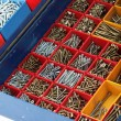Toolbox with Bolts and Screws — Stock Photo