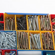 Toolbox with Long Screws — Stockfoto