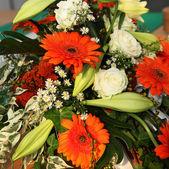Colourful Gerbera Flower Decoration — Stock Photo