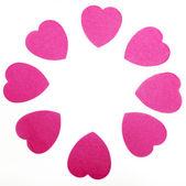 Pink hearts circle — Stock Photo