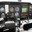 Cockpit of a small aircraft — Stock Photo