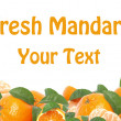 Fresh mandarin — Stock Photo #8813779
