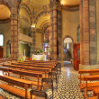 Catholic church interior view. Alba, Italy. — Stockfoto