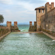 Stock Photo: Ancient castle on Lake Garda. Sirmione, Italy.