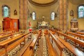 カトリック教会の内部ビュー。アルバ, イタリア. — ストック写真