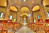 Catholic church interior view. Alba, Italy. — 图库照片