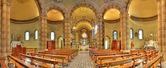 Vnitřní pohled katolické církve. alba, itálie. — Stock fotografie