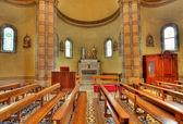 Catholic church interior view. Alba, Italy. — Stock Photo