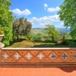 Stock Photo: View from castle terrace. Novello, Northern Italy.