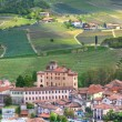 Barolo Castle and hills of Piedmont. Northern Italy. — Stock Photo
