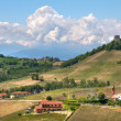 Hills of Piedmont at spring. Northern Italy. — Stock Photo
