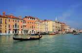 Gondola on Grand Canal in Venice, Italy. — Stock Photo