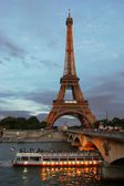 Eiffel Tower at evening. — Stock Photo