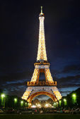 Eiffel Tower at night. — Stock Photo