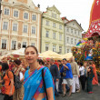 Krishna procession in Prague. — Stock Photo