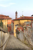 Historic part of Saluzzo - ancient town in Italy. — Stock Photo