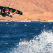 Kitesurfer on the Red Sea. - Stock Photo
