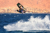 Kitesurfer on the Red Sea. — Stock Photo