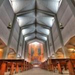 Cristo Re church interior in Alba, Italy. — Stock Photo #8050653