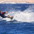 Stock Photo: Kitesurfer on Red Sea.