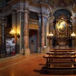 Catholic church interior panoramic view. — Stock Photo