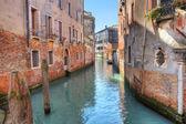 Kleinen kanal. venedig, italien. — Stockfoto