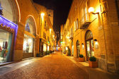 Town center at evening. Alba, Italy. — Stock Photo
