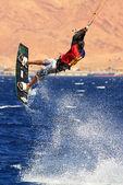 Kitesurfer on the Red Sea. — Stock Photo
