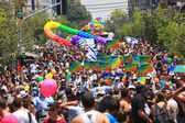 Gay Pride Parade in Tel Aviv, Israel. — Stock Photo