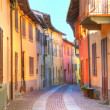 Street of Serralunga D'Alba. Piedmont, Italy. — Stock Photo