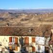 Houses over the hills. Piedmont, Northern Italy. — Stock Photo #8538655