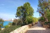 Promenade in yafo, Israël. — Stockfoto