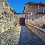 Ancient castle. Serralunga D'Alba, Italy. — Stock Photo