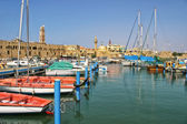 Old harbor in Acre, Israel. — Stock Photo