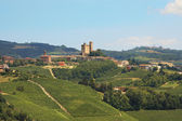 Castle on the hill. Piedmont, Northern Italy. — Stock Photo
