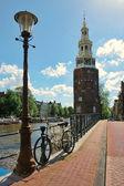 Montelbaanstoren Tower. Amsterdam, Netherlands. — Stock Photo
