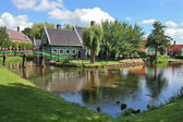 Dutch village. Zaanse Schans, Netherlands. — Stock Photo