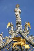 サン マルコ大聖堂 - フラグメント。ベニス、イタリア. — ストック写真